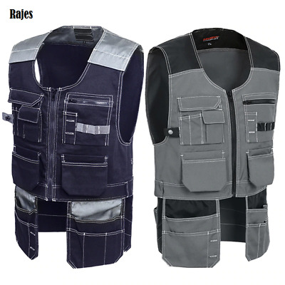 Electrician Tool Vest Workwear For Men Multi-Pocket Quick Dry Windproof Safety • 43.21£