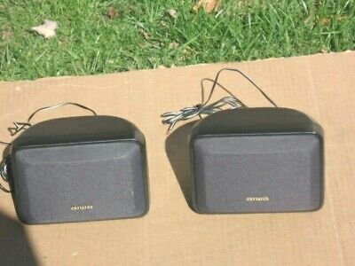 $15.50 • Buy A Pair Of 16 Ohm Aiwa  Surround Sound  Speaker Systems In Good Condition!