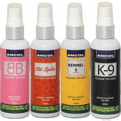Ancol Dog Cologne Grooming Spray Old Spike, Kennel 5 Or BB K-9 Perfume • 7.45£