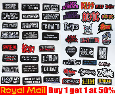 £2.99 • Buy Popular Character Biker Patches Badges Iron On Sew On