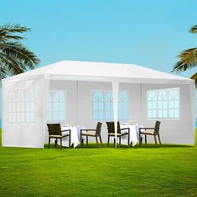 AU90.50 • Buy Instahut Gazebo 3x6 Outdoor Marquee Side Wall Party Wedding Tent Camping White