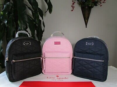 $ CDN162.88 • Buy NWT Kate Spade Small Bradley Wilson Road Quilted Nylon Backpack