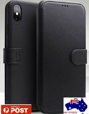 AU4.99 • Buy For IPhone X XS Leather Wallet Case Magnetic Flip Card Cover