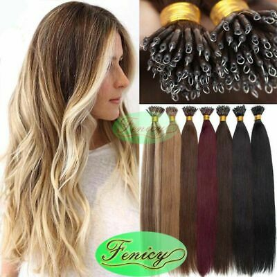 Nano Tip Hair Extensions Nano Micro Ring Beads Link Russian Remy 100% Human Hair • 14.76£
