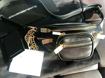 AU680 • Buy Alexander Wang Classic Attica Mini Fanny Pack With Gold Hardware