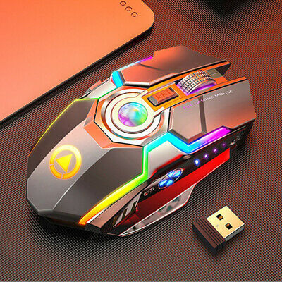 AU15.35 • Buy 2.4G Wireless Gaming Mouse Rechargeable Optical Ergonomic LED Light For PC MAC