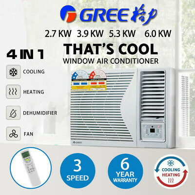 AU1499 • Buy Gree 6.0kw Window Wall Box Air Conditioner Fan Cooler Heater Reverse Cycle