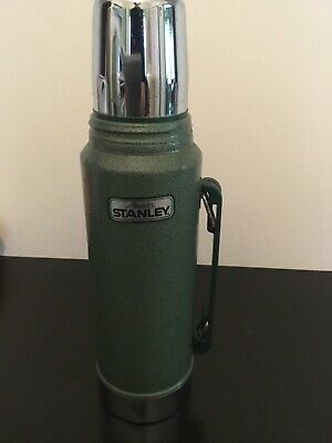AU20 • Buy Vintage Stanley Thermos Flask, Green And Chrome, Good Condition, Made In The USA