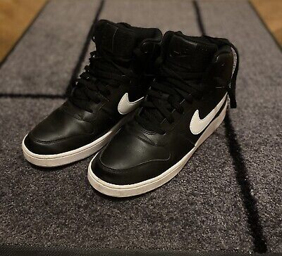 Nike Mid Leather Black & White Size  9 UK - Used 3times In Mint Condition • 35£