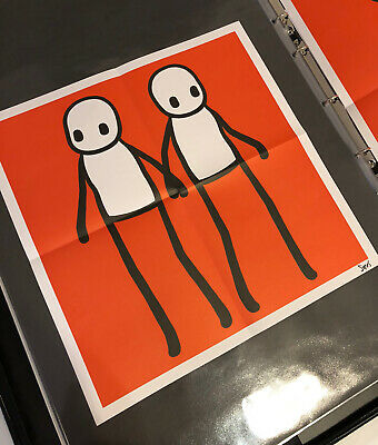 Stik Hackney Today Red SIGNED Poster • 1,125£