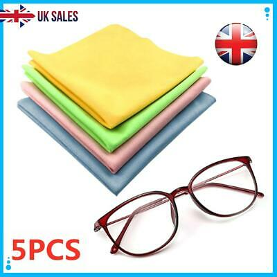 5PCS Glasses Cleaner Camera Lens Sunglasses Glasses Micro Fibre Cleaning Cloth • 2.99£