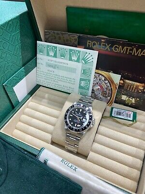 $ CDN16252.52 • Buy Rolex GMT Master II 16710 Black Dial Stainless Steel Watch Box Paper