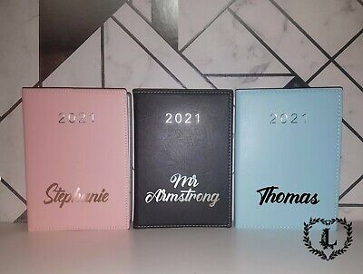 Personalised Faux Leather 2021 Diary Journal, Teachers, Student Uni • 7.99£