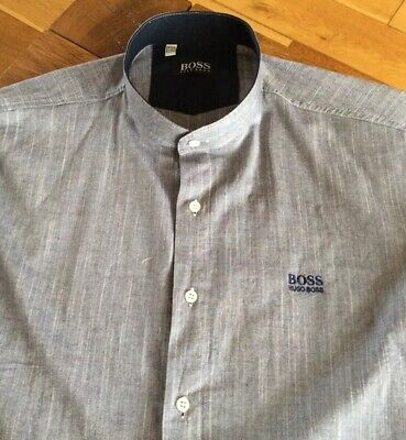 Mens Grandad Shirt By Hugo Boss.     18  Collar.  Xxl • 4.99£