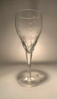 Royal Doulton Crystal Chelsea Cut Large Wine Glass 8 1/8  21 Cm Tall • 25.99£