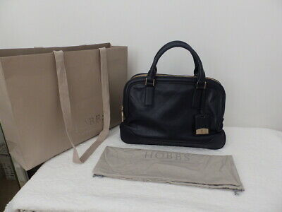 HOBBS Navy Blue Leather LYTTLETON Tote Bag With Dustbag SMART BUSINESS • 50£