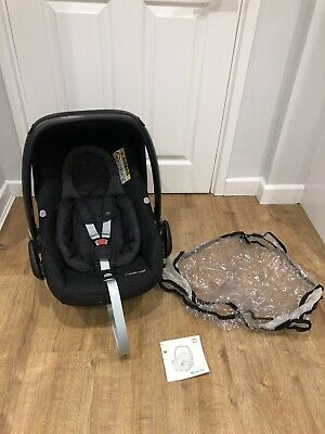 *.maxi Cosi Rock Rear Facing Car Seat+ Raincover! Black Raven! Immaculate.* • 49£
