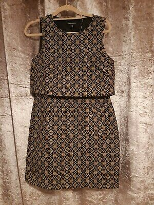 M&S Limited Collection Gold/black Dress , Looks Co-ord 2 Piece, 12 Nwt • 6.99£