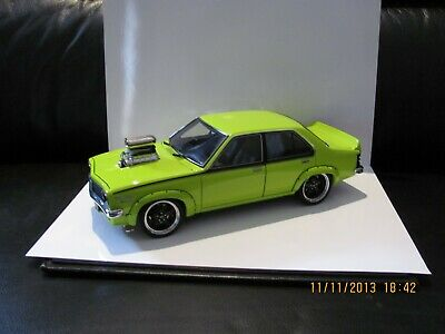 AU795.95 • Buy 1:18 BLOWN LH SLR5000 TORANA MODIFIED IN BARBADOS GREEN **rare One-off Build**