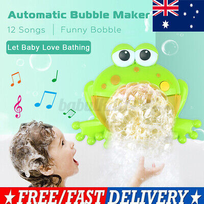 AU13.20 • Buy Baby Bath Toy Kids Bubble Frog Automatic Baby Bath Time Fun Baby Toys Music AU