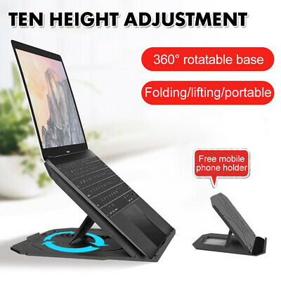 AU12.59 • Buy Foldable Adjustable Laptop Notebook Stand Home Office Portable Desk Table Tray