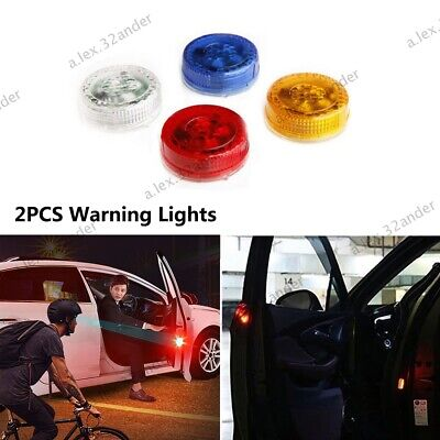 2PCS Car Door Warning Light Signal Lamp Automatic Wireless Anti-collid Universal • 3.65£