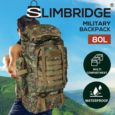 AU41.99 • Buy 80L Military Tactical Backpack Rucksack Travel Hiking Camping Outdoor Trek Army