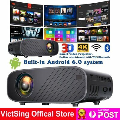 AU150.39 • Buy 22000lm Mini Portable Projector 1080P HD Home Theater Video Projector HDMI USB