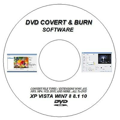CONVERT BURN RIP ANY MPEG, DIVX, MP4, AVI, WMV TO DVD For WINDOWS XP 7 8 10 • 2.98£
