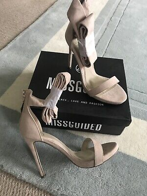 £9.99 • Buy Missguided Nude . Tie On Shoes . New . Size 6 . Tall Classy Shoes .