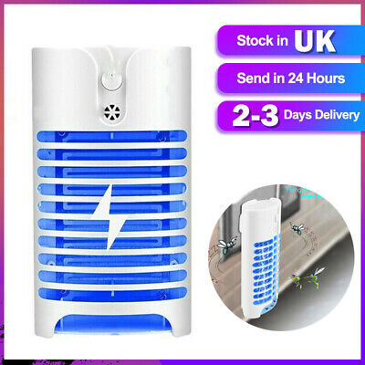 Electric Insect Mosquito Fly Killer Bug Zapper UV Indoor Pest Catcher Trap Lamp • 8.90£
