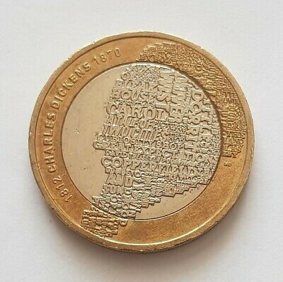 2012 Two Pound Coin Charles Dickens £2 • 3.49£