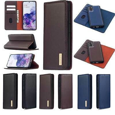 £15.20 • Buy Detachable Genuine Leather Wallet Case Cover For Samsung IPhone Xiaomi Huawei
