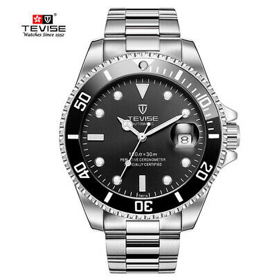 AU59.95 • Buy Tevise Stainless Steel Mens Automatic Mechanical Watch 1 Military Calendar