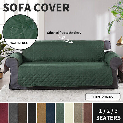 AU19.99 • Buy Sofa Cover Slipcovers 1/2/3 Seater Couch Lounge Quilted Protector Waterproof