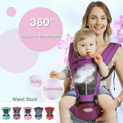Newborn Baby Carrier Kids Toddler Waist Hip Seat Wrap Soft Belt Backpack Sling • 13.99£