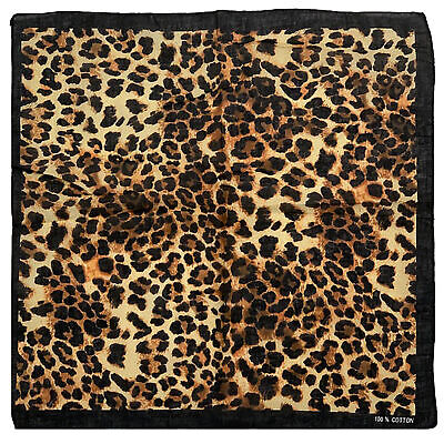 $6.56 • Buy Animal/ Leopard Print Bandana With Black Border
