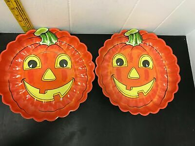 $ CDN25.94 • Buy Vintage Halloween Candy Bowls Plastic Pumpkin Party Orange Trick Or Treat Dish