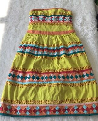 $ CDN19.99 • Buy Anthropologie Leifsdotter Quilotoa Patchwork Dress Fit & Flare Sz XS/S