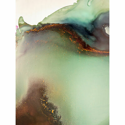 £16.99 • Buy Abstract Paint With Green Gold Large Wall Art Print Canvas Premium Poster