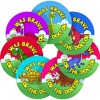 I Was Brave For The Doctor Dinosaur Sticker Labels Parents Teachers Kid Children • 15.19£