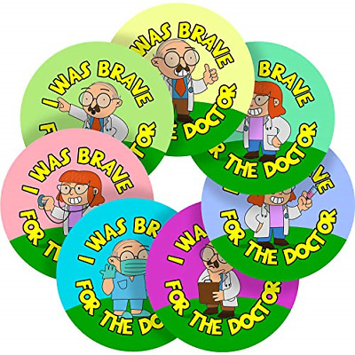 Doctor Brave Sticker Labels Parents Teachers Kid Children Party Reward 65 MM X • 15.19£