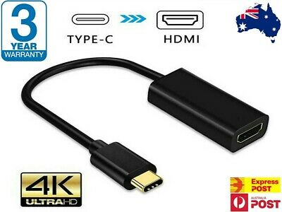 AU8.98 • Buy 4K Type C USB-C To HDMI Adapter  USB C 3.1 Cable 30Hz For MacBook ChromeBook AUS