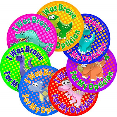 Optician Brave Dinosaur Sticker Labels Parents Teachers Kid Children Party 25 MM • 7.46£