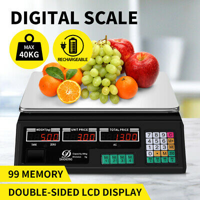 AU44.99 • Buy Commercial Digital Kitchen Scales LCD Shop 40KG Food Weight Electronic Scale