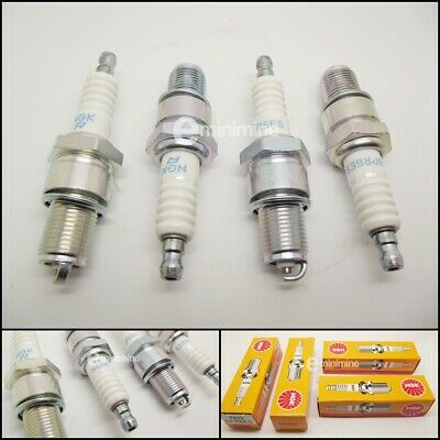 Classic Mini INJECTION NGK Spark Plugs Set Of 4 BPR6ES For Rover SPi & MPi 1275 • 9£