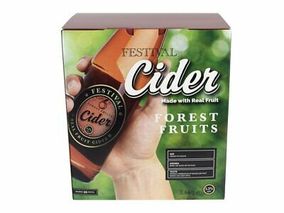 Festival Real Fruit Cider Kit Forest Fruits 3.6Kg Makes 40 Pints - Home Brew • 36.99£