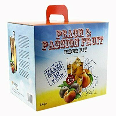 Youngs Peach & Passion Fruit Premium 3.5Kg Cider Kit (40 Pints) Home Brew • 37.20£