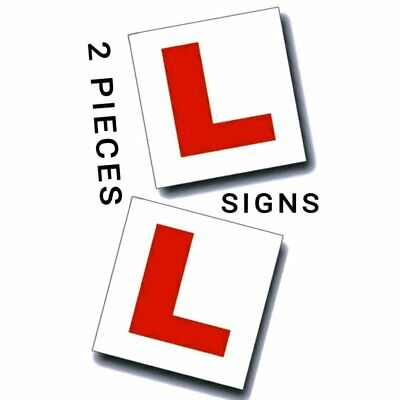 2 X FULLY MAGNETIC L PLATES SECURE Quick Easy To Fix Learner Sign Car Bike UK  • 1.79£