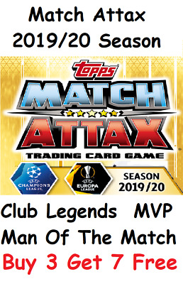 Match Attax 2019/20 MVP Man Of The Match Club Legend 2019/2020 Topps 19/20 • 0.99£